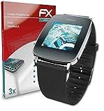 atFoliX Schutzfolie kompatibel mit Asus VivoWatch Folie, ultraklare & Flexible FX Bildschirmschutzfolie (3X)