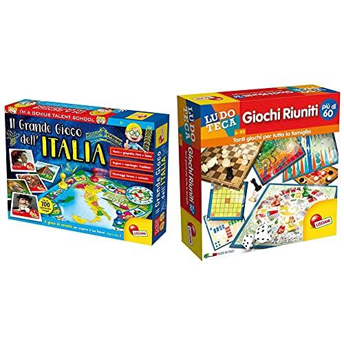 Liscianigiochi 51156 Il Grande Gioco Dell'Italia & - Giochi Riuniti Più Di 60 Gioco, Multicolore, 57023