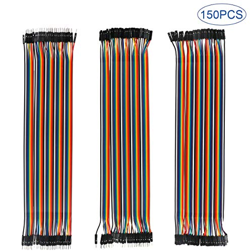 150Pcs 30CM Cavi ponticello multicolore Dupont, da 50 pin maschio a femmina, da 50 pin maschio a maschio, da 50 pin femmina a femmina Cavo Ribbbon per saldare BreadBoard