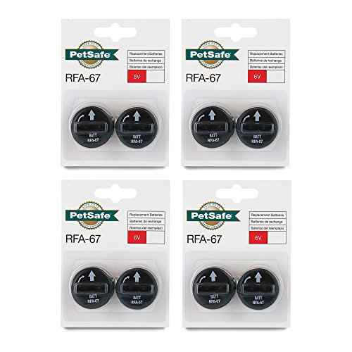 8 PACK PETSAFE BATTERY RFA-67D-11 RFA-67 8 X 6V BATTERIES FOR PIF-300 RF300 PIF-275-19 PRF-3004W PUL-250