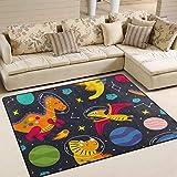 MNSRUU Area Rugs Dinosaur Space Star Non Slip Floor Rug for Living Room Traditional Carpet 80' x 58'