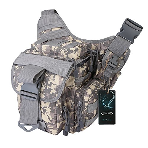 G4Free Tactical Messenger Bag EDC Sling Pack Fishing Tackle One Shoulder Bag Military Multi-functional Utility Pouch Outdoor Waist Bum Bag