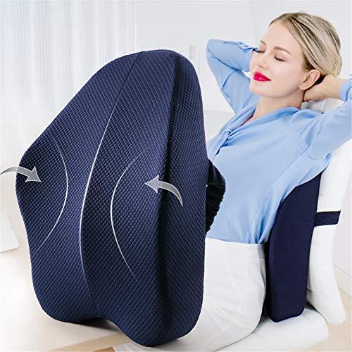 Big Size Full Lumbar Support Best Premium Back Pillow for Office Desk Chair Car Seat Sofa Ergonomic Relieve Lower Sciatica Pain