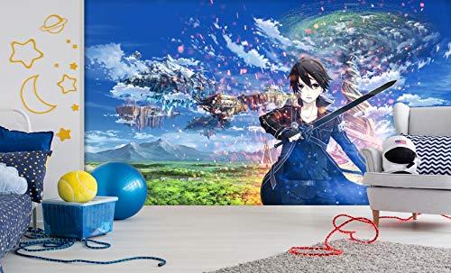3D Seide Tapete Schwert Kunst Online Kirito Japan Anime Tapeten Wandbild Wanddruck Aufkleber Wandbilder-400X280cm(WxH)