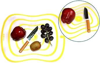 YUANYUAN520 Tabla De Cortar Top Vente 2 pièces Cuisine Dépoli Antidérapant En Plastique Planches à Découper Alimentaire Coupé Billot