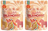 Candy People Swedish Dala Horse Fruit Flavored Gummy Candy - Citrus, Pineapple, Raspberry Fruit Flavors - Gluten and Gelatin Free - 2-Pack