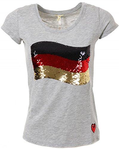 KEY LARGO Damen T-Shirt German Flag grau (13) S