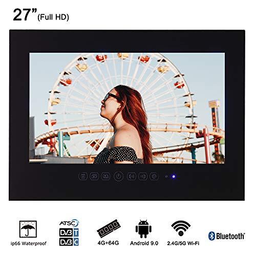 Save %23 Now! Soulaca 27 Frameless Smart Waterproof Bathroom LED TV T270FA-B