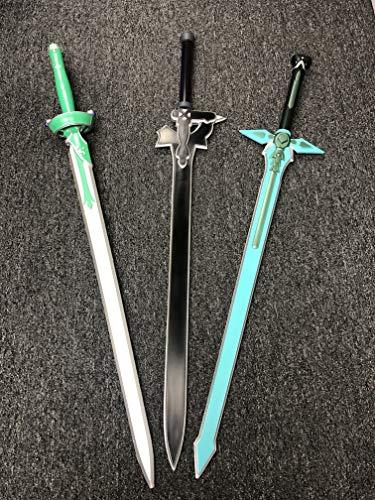 Sword Art a Online Kirito Asuna Yuuki Foam Sword Set Elucidator Dark Repulsor Kirigaya Lambent Light (3 Swords)