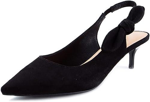 WENJUN Tip Bow Fine Stiletto High Heels damenes Moda Tip Pisos damenes Personalidad Sandalias Creativas Salvaje schuhe Profesionales