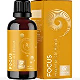 Aromatherapy Essential Oils for Focus Blend - Diffuser Essential Oils for Mental Focus Study Relaxation Energy and Attention Support - Focus Essential Oil Blend for Diffuser for Kids and Adults