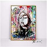 Brigitte Bardot Street Painted Pop Art Poster und Drucke