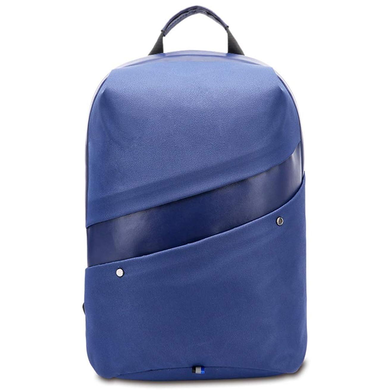 カードオーロックソファー通気性 スタイリッシュでカジュアルなショルダーバッグニュートラルUSBリュックサック防水ビジネスコンピュータバッグ/学生バッグシンプルで便利 (色 : Blue, Size : S)