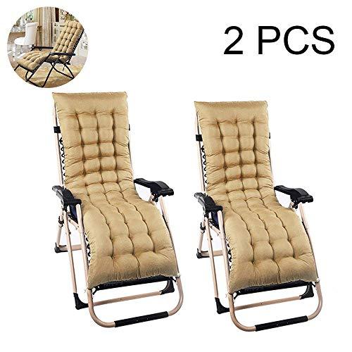 DUCHEN Cojín de repuesto para tumbona de jardín, patio, cojín grueso, portátil, plegable, funda para asiento de silla, 160 x 48 cm