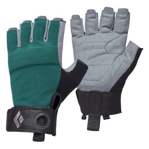 Black Diamond Women's Crag Half-Finger Gloves, Guanti da Arrampicata, Raging Sea, Large