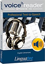 Voice Reader Studio 15 English (American) – Professional Text-to-Speech Software (TTS) for Windows PC / Convert any text into audio / Natural sounding voices / Create high-quality audio files / Large