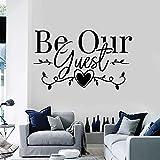 Sea nuestro invitado calcomanía de pared bienvenido decoración de interiores vinilo adhesivo arte papel tapiz para sala de estar comedor puertas y ventanas