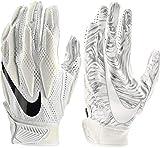 Nike Men's Super Bad 4.5 Football Gloves, White/Black (Medium, White/Black)
