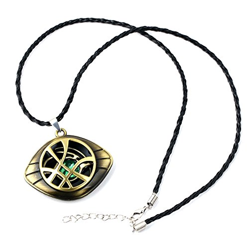 XOFOAO Doctor Strange Necklace Eye of Agamotto Costume Prop Stone Pendant
