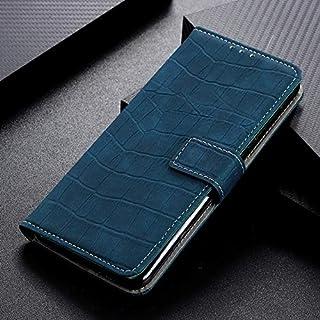 プレミアム OPPO Realme XTケース、スタンド&カードスロットビジネススタイルのクロコダイルパターンPUレザーメタルバックルマグネットフリップウォレットケースのための携帯電話ケース (Color : Green)