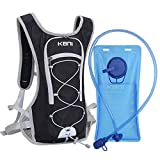 KBNI Hydration Backpack with 2 Litre (68 Ounce) Water Bladder, Lightweight, Suitable for Outdoor...