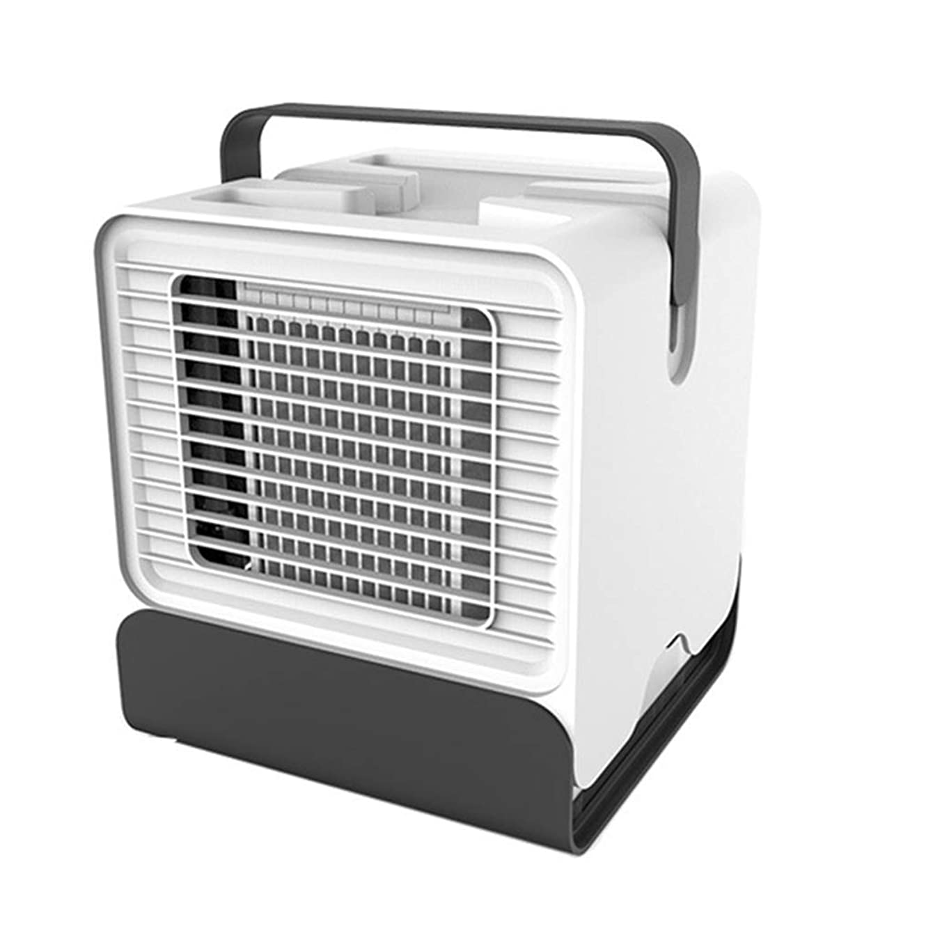LXT PANDA Air Cooler Fan, USB Desktop Air Conditioning Fan with 3 Wind Speeds, Compact Evaporative Cooler Air Humidifier with LED Light.