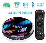 4GB 128GB Android TV Box, H96 Max X3 4K/8K Android 9.0 Smart TV Box Amlogic S905 X3 Chipset Support H265 VP9 Video Decoding 2.4G 5GWifi 1000M LAN USB3.0 Android Box