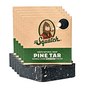 Dr. Squatch Pine Tar Soap 5-Pack Bundle – Mens Bar with Natural Woodsy Scent and Skin Exfoliating Scrub – Handmade with… 6