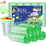 OKKEAI 3 Gallon Small Trash Bags,100 Counts Small Trash Can Liners Garbage Bags Leak Proof Bags Wastebasket Liners Bags for Bathroom Kitchen Bedroom Living Room Office,Green