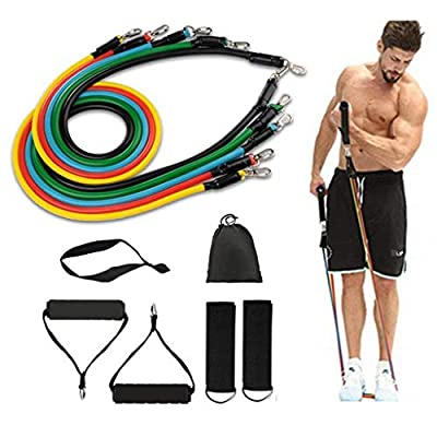 Amazon - Save 40%: omeishi Exercise Bands Resistance Bands for Men Women,Bands for Workin…