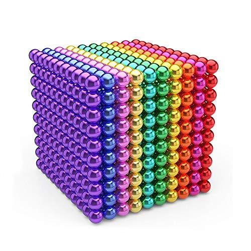 Ttrdye 1000 Piezas de 3 mm Juguetes de Bricolaje Bloques de construcción para el Desarrollo Aprendizaje y Alivio del estrés Imán Escritorio de Oficina Juguetes para Adultos