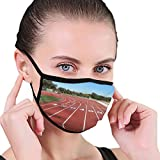 PYFXSALA Running Track Field Sport Paattern Face Mask Dust Breathable Reusable Ear Loop Unisex Face Balaclava Bandana Breathable Outdoor Fashion Face Protections Man and Woman