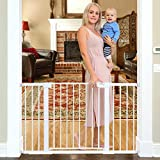 Best Baby Gate Stairs - Cumbor 51.6-Inch Baby Gate Extra Wide, Easy Walk Review