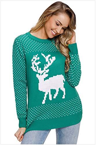 QWL-Sweater Maglia girocollo autunno-inverno in maglia a maniche lunghe con scollo a maglioni
