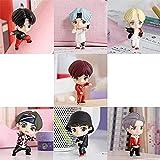 AMZYY 7 PCS/Set BTS Mini Idol Doll Deluxe Figura K-Pop Fingure Personajes Juego de acción Juguetes de Fiesta Jugar Cake Toppers Fingure of para Bangtan Boys Suministros de cumpleaños