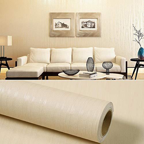 KSWD Tapete Eine Rolle von 10M Selbstklebend, 3D Einfarbig PVC Vinyl Wasserdicht DIY Schlafzimmer Wohnzimmer Küche Bad Möbel,T