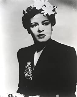 Billie Holiday Posed in Black Dress with Flower on Hair Portrait Photo Print (8 x 10)