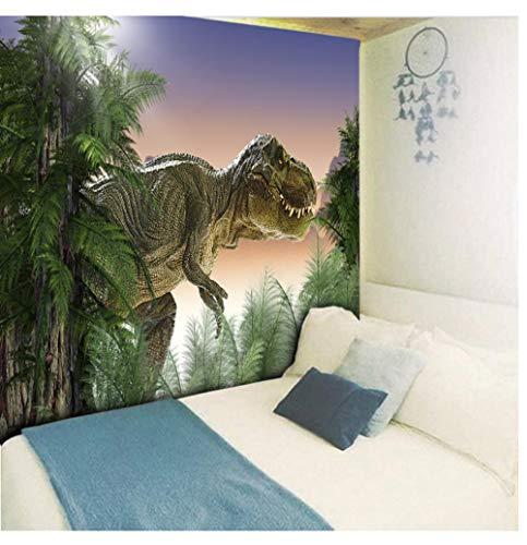 Zwzxyz Tapiz Forest Dinosaur Wall Hanging Dormitorio Mesita de Noche Animal Decorativo Wall Hanging Art Wall Cloth 150 * 200cm
