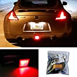 iJDMTOY 27-SMD Brilliant Red LED Conversion Kit Compatible With 2009-2017 Nissan 370Z, 2013-2016 Nissan Juke Nismo Version Rear Fog Light