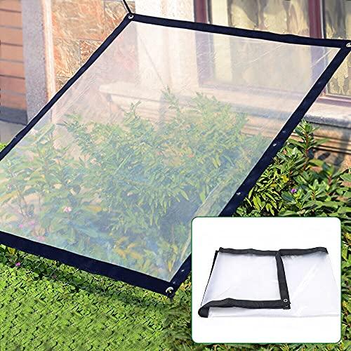 Lona transparente para invernadero, lona impermeable con ojales para terraza, pabellón, terraza, cortavientos, exterior