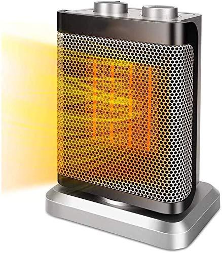 Eléctrico portáti de Aire Personal calefactor Calentador de espacio eléctrico portátil 1500W Calentador de cerámica 1500W con protección contra calor Termostato ajustable Calentamiento rápido for ofic