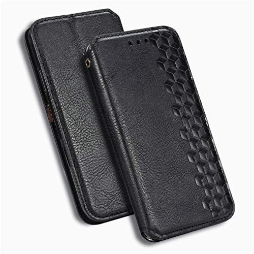 GOGME Cover per Huawei Mate 40 PRO Plus Cover, Retro PU Leather Wallet, Flip Cover TPU a Libro Antiurto in Pelle Portafoglio con Kickstand Slot, Nero