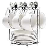 MyLifeUNIT Coffee Cup Rack Stand, Stainless Steel Coffee Cup Holders for Counter, 6 Hooks
