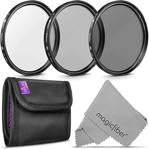 67MM Lens Filter Kit by Altura Photo, Includes 67MM ND Filter, 67MM CPL Filter, 67MM UV Filter, (UV, CPL Polarizing Filter, Neutral Density ND4) for Camera Lens with 67MM Filters + Lens Filter Case