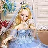 SXXYTCWL Chica Conjunta S, 24 Pulgadas 60 cm 26 Bola con unión S 1/3 Juguete Completo con Accesorios de Disfraz de Maquillaje Pintado a Mano, for Regalo de cumpleaños de niñas jianyou