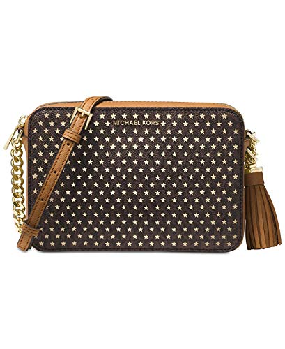 NEW AUTHENTIC MICHAEL Michael Kors Ginny Medium Camera Bag (Brown)