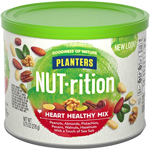 Planters NUT-rition Heart Healthy Mix with Walnuts and Hazelnuts, 9.75 oz Can (Pack of 6)