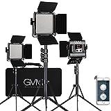 GVM 560 LED Video Light, Dimmable Bi-Color, 3 Packs Photography Lighting with APP Intelligent Control System, Lighting for YouTube Studio Outdoor, Video Lighting Kit, 2300K-6800K, CRI 97+