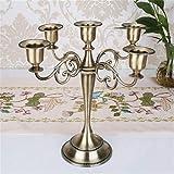 YZCKW Tabelle 5-Arm Candlesticks Candelabra Home Hochzeitsessen Romantische Dekoration-Kupfer Fünf Köpfe Kerzenständer