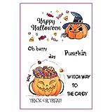 VIVIANU Happy Halloween DIY Silikon Klar Stempel Haftenden Siegel Sammelalbum Präge Album
